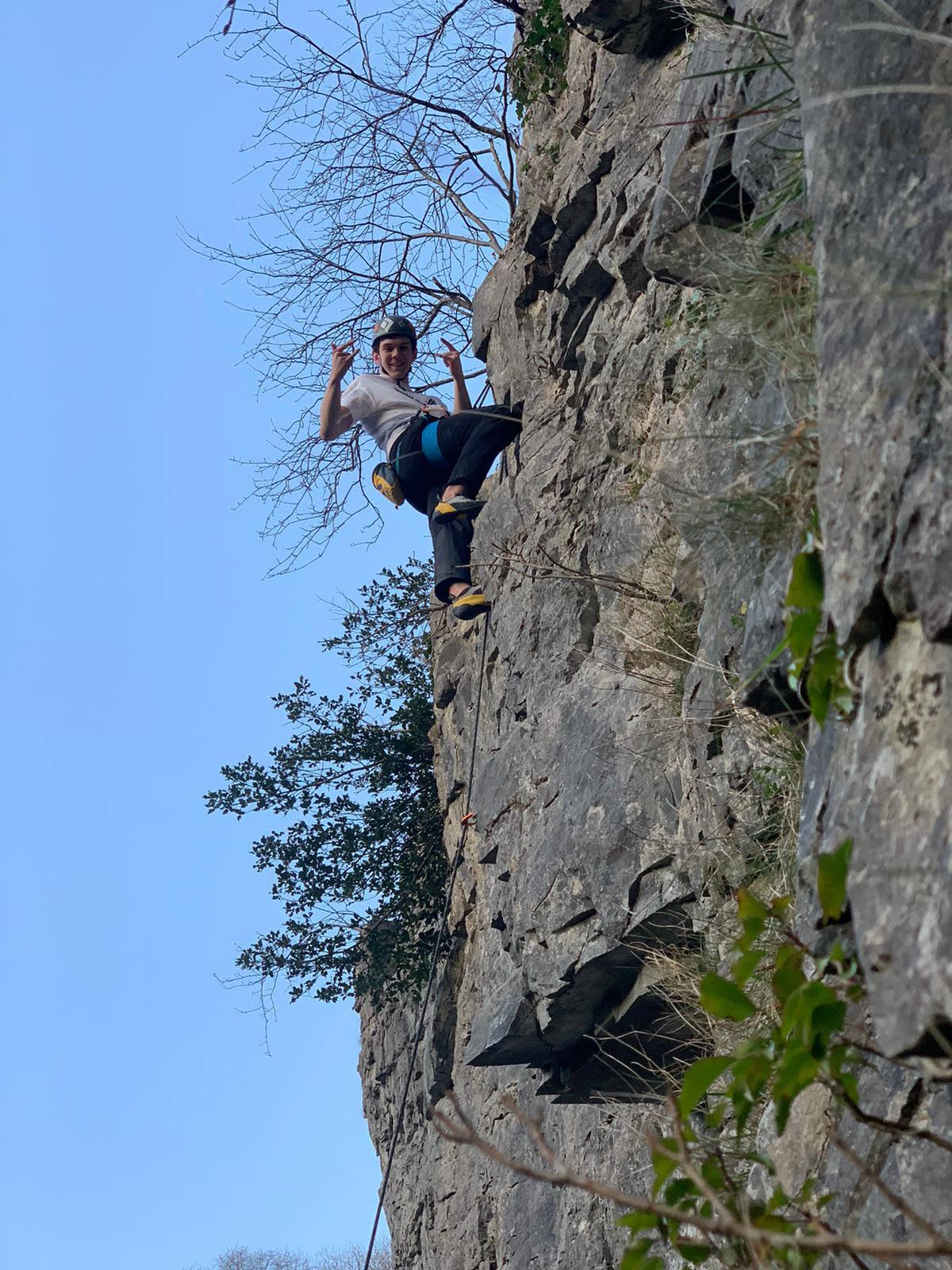 Climbing in Cheddar